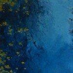 'Fallen Gold' Oil on linen - 300 x 800 £525.00 framed in white