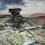 Derwent Edge pastel on paper framed - £SOLD