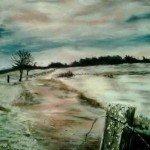'Frosty Lake' Pastel - £145.00