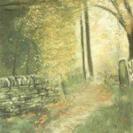 'Woodland Walk' pastel on paper, framed - £245.00