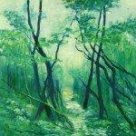 Midsummer Morning Oil on Canvas - 600 x 600 framed £525.00