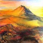 golden-tor-1 image size 35.5 x 35.5 cm Framed in white £325.00