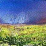 'Rain ahead' - mixed media - 38.5 x 38.5 framed £59.00