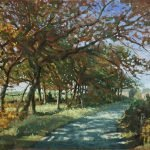 "'Autumn Lane' Oil on box Canvas 18"" x 14"" £620.00"