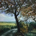 'Autumn Shade' - Oil on box canvas - £540.00