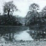 'Before the Rain' Monoprint and mixed media - framed - 395.00