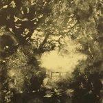'Dark Path' Monoprint - framed - £345.00