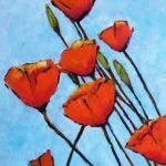"'Poppies II' Acrylic on deep canvas - 20"" x 30"" - £495.00"