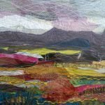 'Hills and Valleys' Textiles - image size 540 x 440 framed - £330.00